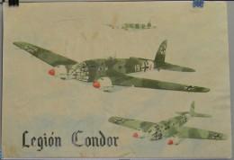 JK732 SPAIN ESPAÑA POSTER 42x29 Cm. CIVIL WAR. LEGION CONDOR. AIRPLANE AVION. - 1939-45