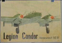JK733 SPAIN ESPAÑA POSTER 42x29 Cm. CIVIL WAR. LEGION CONDOR. AVION MASSERSCHMITT. - 1939-45