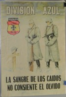 JK746 SPAIN ESPAÑA POSTER 42x29 Cm. WWII. DIVISION AZUL RUSSIA. SOLDADOS, SOLDIER. - 1939-45