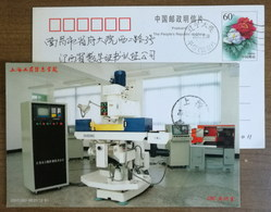 CNC Machine Tool Training Room,China 2002 Shanghai Information College Of Industrial And Commercial Pre-stamped Card - Factories & Industries