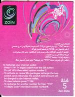 JORDAN - Zain Mini Prepaid Card JD 5(left), Exp.date 08/07/19, Used - Jordan