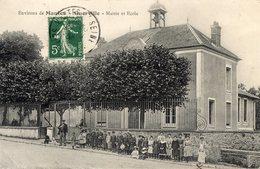 78 GUERVILLE - ENVIRONS DE MANTES - MAIRIE ET ECOLE - Guerville
