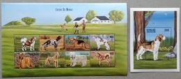 Central Africa 1999** Klb.2318-25 + Bl.628 (Dogs Of The World) MNH [8;51] - Chiens