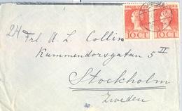 1924 , HOLANDA , SOBRE CIRCULADO ,VLAARDINGEN - ESTOCOLMO , LLEGADA AL DORSO - Brieven En Documenten