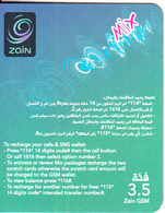 JORDAN - Zain Mini Prepaid Card JD 3.5(right), Exp.date 06/06/19, Used - Jordan