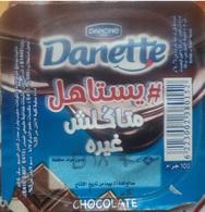 Egypt - Couvercle De Chocolate Danone Danette  Chocolate (foil)(Egypte) (Egitto) (Ägypten) (Egipto)(Egypten)Africa - Opercules De Lait
