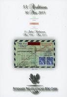 53. Potsdamer Philatelistsiches Büro Auktion 2015 - Auktionskataloge