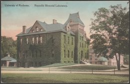 Reynolds Memorial Laboratory, University Of Rochester, New York, C.1910 - Scrantom Wetmore & Co Postcard - Rochester