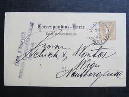 GANZSACHE Jaroslaw Jaroslau - Wien  Korrespondenzkarte 1887 /// D*34073 - 1850-1918 Imperium