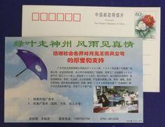 Rain Umbrella,anti-ultraviolet Parasol,China 2000 Yuetu Umbrella Manufacture Factory Advertising Pre-stamped - Factories & Industries