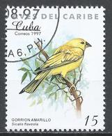 Cuba 1997. Scott #3848 (U) Caribbean Bird, Sicalis Flaveola * - Cuba