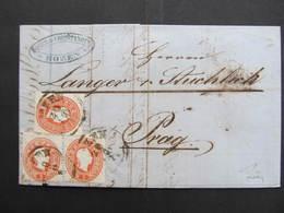 BRIEF Bozen - Prag 1861 Firma Moser + Christanell /// D*34076 - Briefe U. Dokumente
