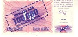 BOSNIA  P.34 100000  Dinars 1993 Unc - Bosnia Erzegovina
