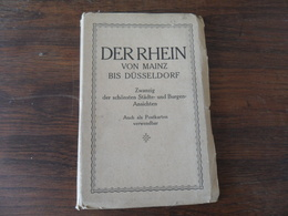 ANCIEN ALBUM DE 20 CP / DER  RHEIN VON MAINZ BIS DUSSELDORF - Obj. 'Souvenir De'