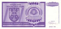 Croatia R.19 5.000.000.000  Dinars 1993 Unc - Croazia