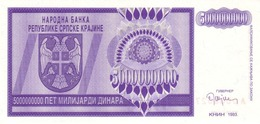 Croatia R.19 5.000.000.000  Dinars 1993 Unc - Croatia