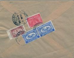 1953 , ARABIA SAUDITA , SOBRE CIRCULADO ENTRE JEDDAH Y BOMBAY , LLEGADA , CORREO AÉREO - Arabia Saudita