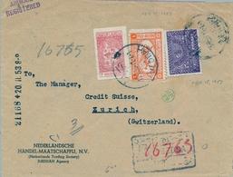1953 , ARABIA SAUDITA , SOBRE CERTIFICADO ENTRE JEDDAH Y ZÜRICH , LLEGADA , CORREO AÉREO - Arabia Saudita