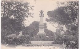 06 Alpes Maritimes - MENTON -  CAP MARTIN - Monument élevé En Souvenir De L'Impératrice Elisabeth - Dos Simple 1904 - Menton