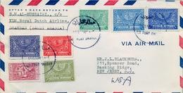 1958 , ARABIA SAUDITA , SOBRE CIRCULADO ENTRE DHAHRAN Y NEW JERSEY , CORREO AÉREO - Arabia Saudita