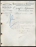 75 Paris Cartonnerie De Grenelle Papeterie De Chantraine Pate, Paille, Bois, Cuir 17 Avril 1905 - Imprimerie & Papeterie