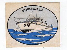 Sept18   82228    Auto Collant  Gendarmerie   Maritime - Autocollants