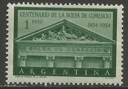Argentina - 1954 Stock Exchange MNH *   Sc 625 - Argentina