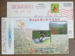 Boblet Sliding,Cable Car,China 1998 Mt.Kuaijishan Tourism Resort Area Advertising Pre-stamped Card - Other