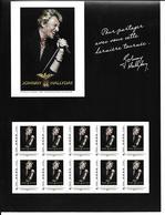 France Collector JOHNNY HALLIDAY TOUR 66 / 10 Timbres Neufs N** / LP 20g / TTBE Dans Pochette D'origine *PRIX FIXE - Blocs & Feuillets