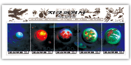 1996 North Korea Stamps Solar System Planet Earth MS - Astrology