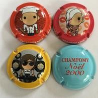 241 - Capsules Champomy Academy.com (x3) + Champomy Noël 2000 - Soda