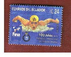 ECUADOR  -   MI 3103  -    2008  FINA CENTENARY: SWIMMER            - USED - Ecuador