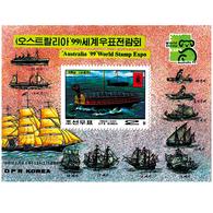 1999 North Korea Stamps Australia 1999 World Stamps Expo Ship  MS - Korea, North