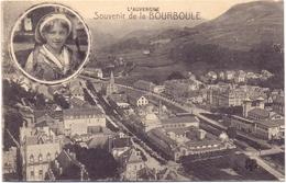 Folklore - Costumes Kostuums - Femme Traditionnelle - L' Auvergne - Souvenir De La Bourboule 1908 - Folklore