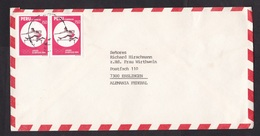 Peru: Airmail Cover To Germany, 2 Stamps, Olympics 1984, Athletics, Sports, From BMW Comp, Rare Real Use (traces Of Use) - Peru