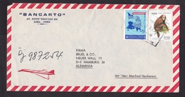Peru: Airmail Cover To Germany, 2 Stamps, Monkey, Animal, Map, Non-aligned Countries NAM, Rare Real Use (traces Of Use) - Peru