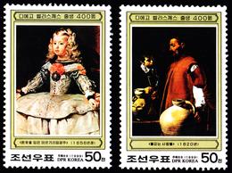 1999 North Korea Stamps Spain Famous Painter DIEGO VELáZQUEZ 2v - Korea, North