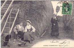 CP - Fantasie - Fantaisie - Scène Champetre - Attendez Un Peu - 1909 - Cartes Postales