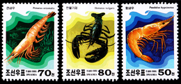 1999 North Korea Stamps Animal Shrimp 3v - Korea, North