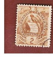 GUATEMALA   - SG 44 - 1886  COAT OF ARMS  - USED - Guatemala