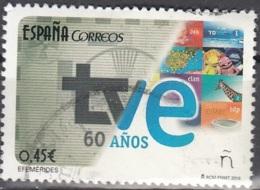 España 2016 60 Ans TVE Cachet Rond O - 1931-Aujourd'hui: II. République - ....Juan Carlos I