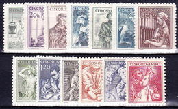 ** Tchécoslovaquie 1954 Mi 848-52+859-63+873-5 (Yv 754A-64), (MNH) - Tschechoslowakei/CSSR