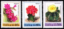 1999 North Korea Stamps Flower Cactus 3v - Korea, North