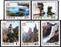 1999 North Korea Stamps Mount Kumgang Scenery 5v - Korea, North