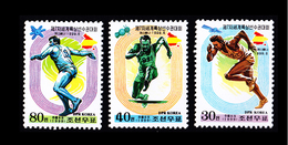 1999 North Korea Stamps The Seventh World Athletics Championships 3v - Korea, North