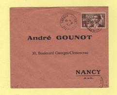 N°418 - 90c La Radio Aux Aveugles - Epinal Entrepot Vosges - 6-4-1939 - Marcophilie (Lettres)