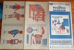 Les POUPEES à HABILLER - ALBUM-JOUET - DECOUPAGE  Années 30 - 10 Pages -ROUQUETTE A L'ECOLE -BERNARDIN/HACHETTE - Andere Verzamelingen