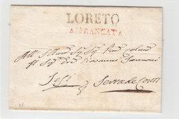 Italy Italia Stato Pontifico Papal States 1860ca LORETO AFFRANCATA  Via ASCONA (q201) - Italia