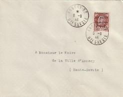 France Lettre FIIannecy Du 6 9 1944 - Marcofilie (Brieven)