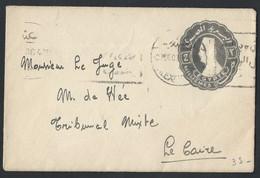 1eg.Stamp Envelope 2 Milliemes (Egypt). The Mail Passed In 1936 Alexandria Cairo. - Egypt